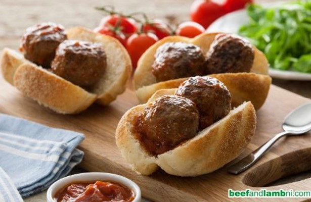 Mini meatball marinara subs