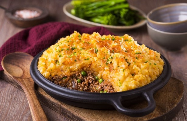 Cottage Pie with roasted root mash